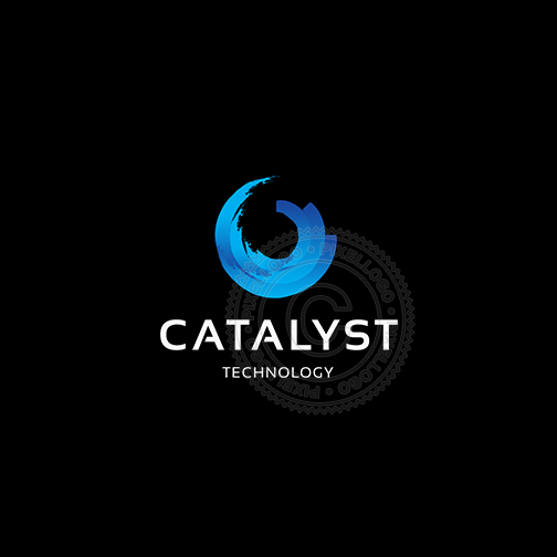 Catalyst Logo - Blue Wave Surfing - Pixellogo