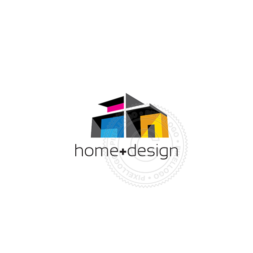 Home Design logo - Modern house | Pixellogo