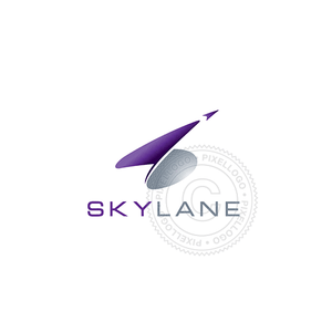 Aviation Arrow Logo - Purple flight logo | Pixellogo