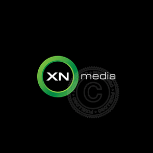 Radio media logo - cool green ring | Pixellogo