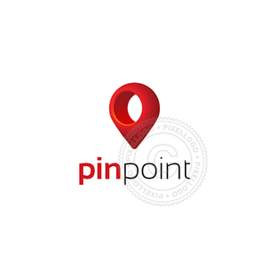 Pin Location logo - 3D Red Pin | Pixellogo