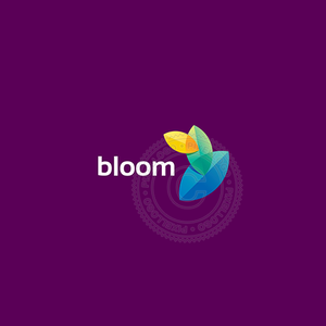Leaf bloom logo - Three leaves growing | Pixellogo