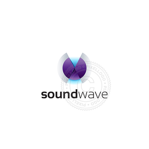 Surround Sound logo - audio wave logo | Pixellogo