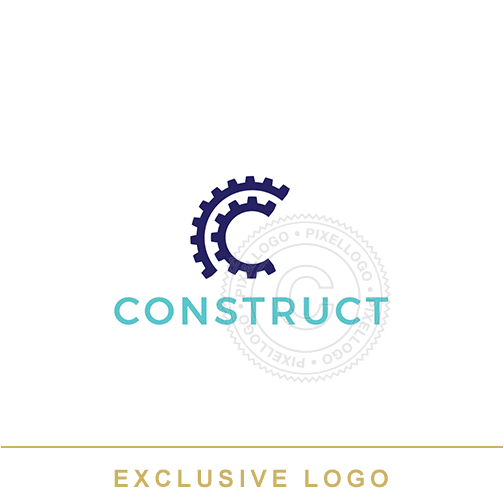 Construction Gear Rotating - Pixellogo