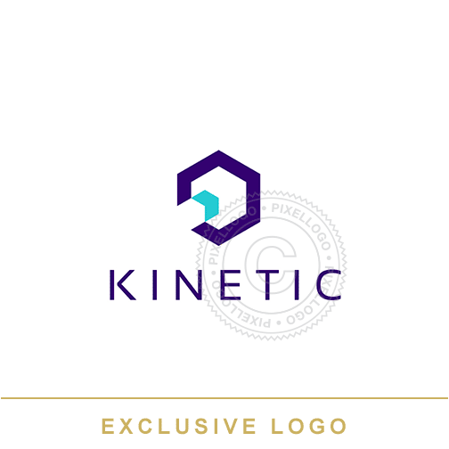 Kinetic Technology Logo - hexagon logo | Pixellogo