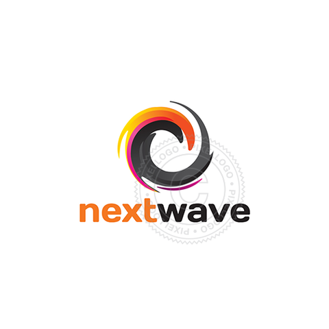 Next Wave Color logo - Orange Wave surfing Logo | Pixellogo