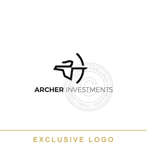 Archer Fund Manager logo - Man with bow and arrow | Pixellogo