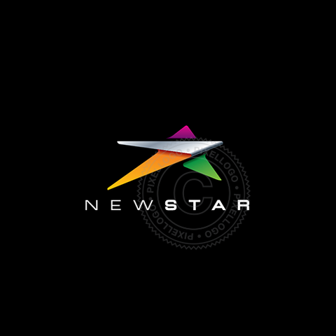 New Star Logo - Steel Sheet Color Star Logo | Pixellogo