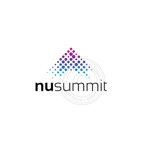 New Summit Mountain Logo - dotted mountain design | Pixellogo