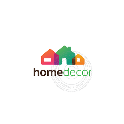 Home Renovation logo - colorfull home | Pixellogo