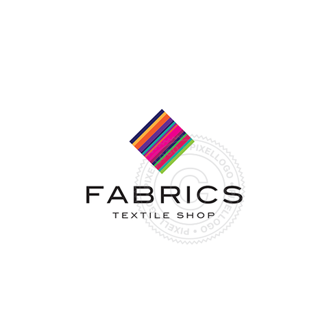 Fabric and Textile Shop - Color strips Diamond cube | Pixellogo