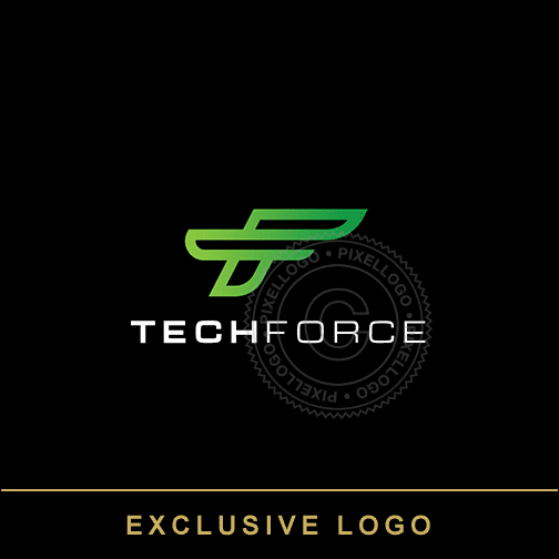 Tech Force FT Monogram - Pixellogo