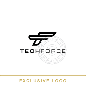 Tech Force FT Monogram - Cool T and F logo | Pixellogo