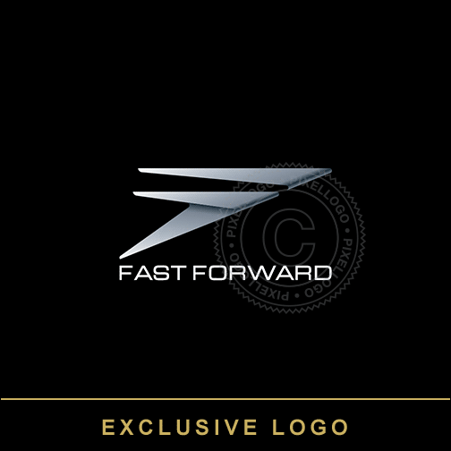 Fast Forward Logo - 2 Speeding Fs Metallic color | Pixellogo