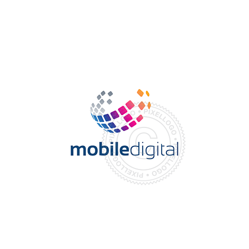 Mobile Communication Logo - Digital Globe Logo