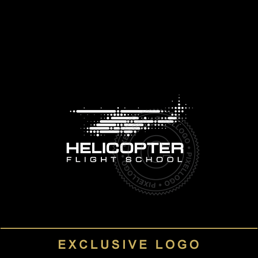 Helicopter industry Logo - dot matrix logo | Pixellogo