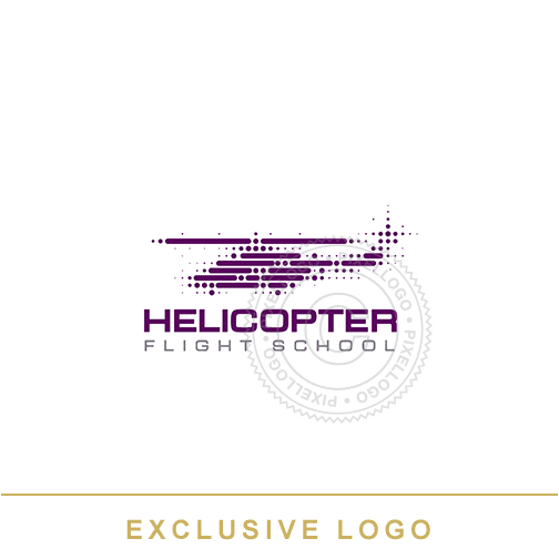 Helicopter Logo - helicopter designed with dots | Pixellogo