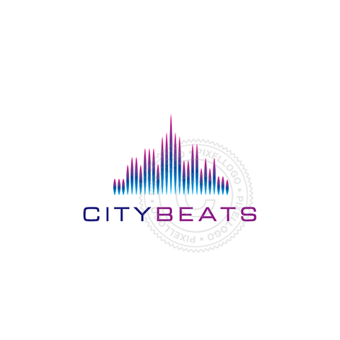 City Skyline Logo - Downtown logo | Pixellogo