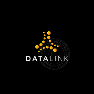 Digital Media Marketing logo - yellow dots logo | Pixellogo