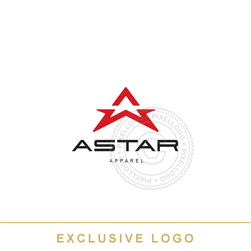 Aviation Star Logo - Pixellogo
