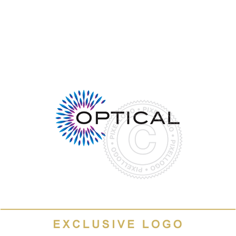 Optical Logo - iris color - Visual Technology | Pixellogo