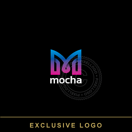 M Design technology logo - Electric M logo | Pixellogo