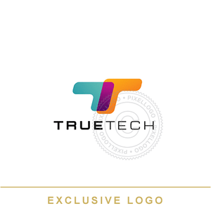 True Tech Logistics logo - High tech T logo | Pixellogo