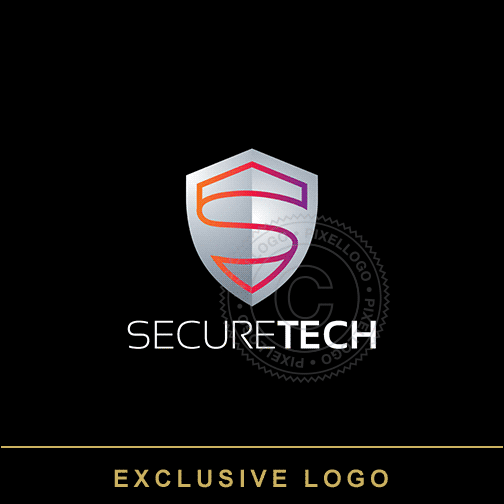 Secure Technology Shield logo - Shield S logo | Pixellogo