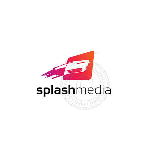 Splash Media web designer Logo - Brush stroke Logo | Pixellogo