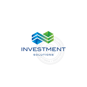 Investment company Logo - Blue Green Building Logo | Pixellogo