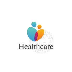 Family Healthcare Logo - Man & Woman Embrace Logo | Pixellogo