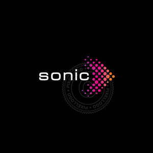 Sonic Arrow Logo - Arrow with color dots logo | Pixellogo
