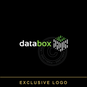 Data Box logo - box with lines | Pixellogo