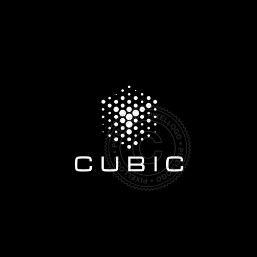 Virtual Box Logo - Dot Matrix cube design | pixellogo