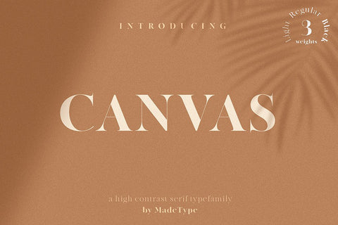 Made Canvas Display Free Font