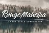 Rouge Maheira free font