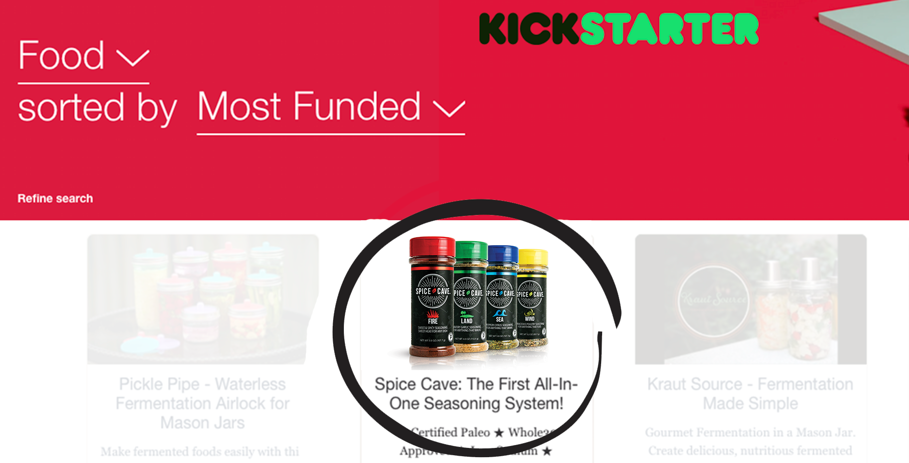 Spice Cave - Most Funded Edible in Kickstarter History