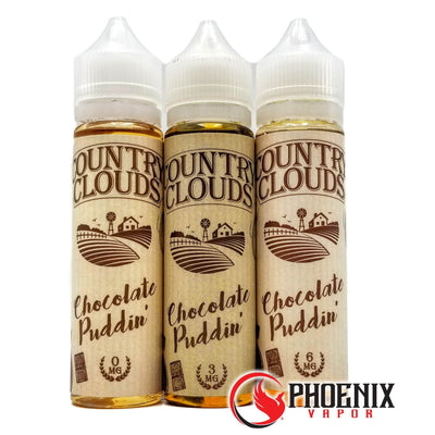 Country Clouds E-Liquid 60 ml / 0 mg Chocolate Puddin' by Country Clouds