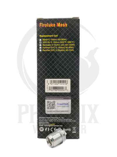FreeMax (Coils) Coils Single Coil / 0.12 ohm Fireluke Mesh Coil by FreeMax