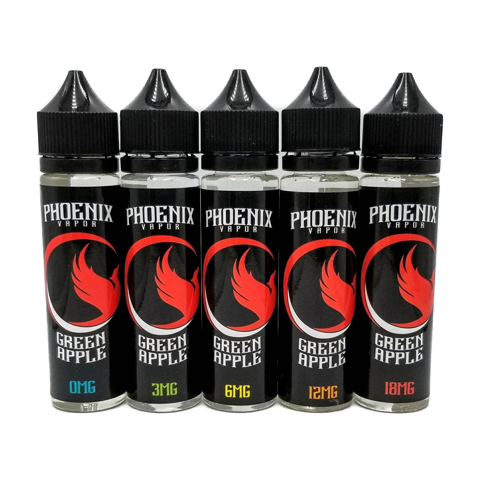 Phoenix Vapor E-Liquid E-Liquid 60 ml / 0 mg Green Apple by Phoenix Vapor