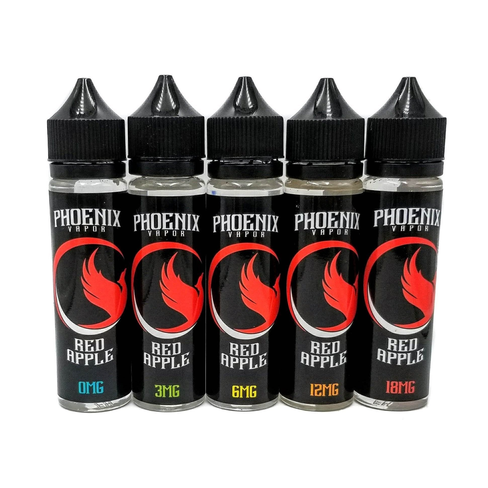Phoenix Vapor E-Liquid E-Liquid 60 ml / 0 mg Red Apple by Phoenix Vapor