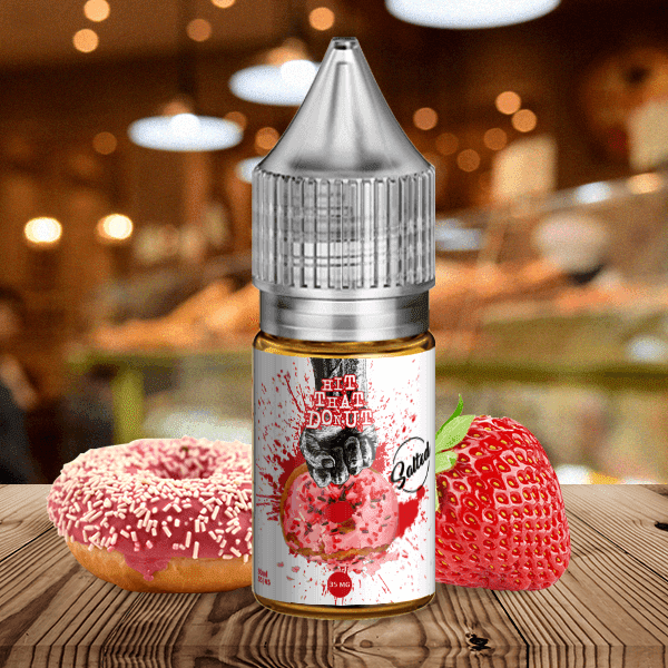 Salted Nic Salt 30ml / 35mg Strawberry by Hit That Donut (Nic-Salt)