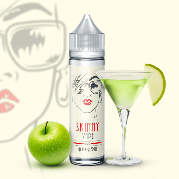 Skinny Vape E-Liquid 60 ml / 0 mg Apple Martini by Skinny Vape