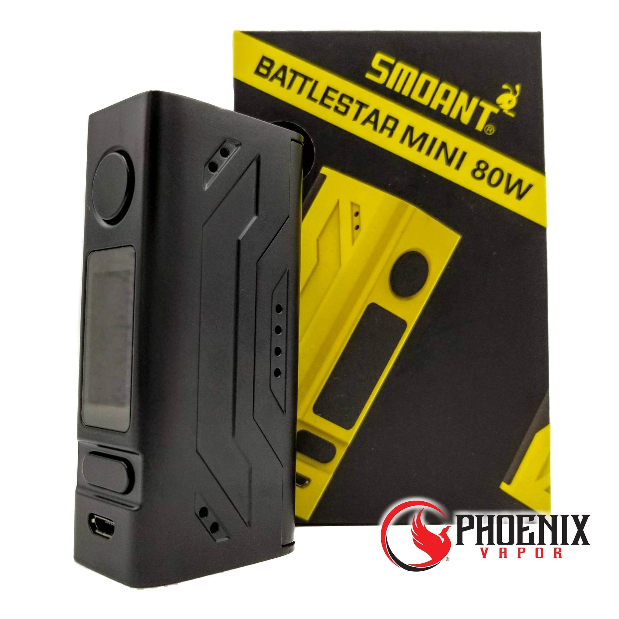 Smoant (Mods) Regulated Mod Black Smoant Battlestar Mini 80W TC Box MOD