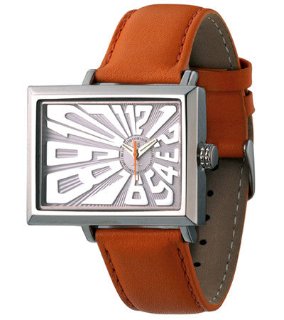 EOS NEW YORK Unisex Mad Hatter Watch in Orange