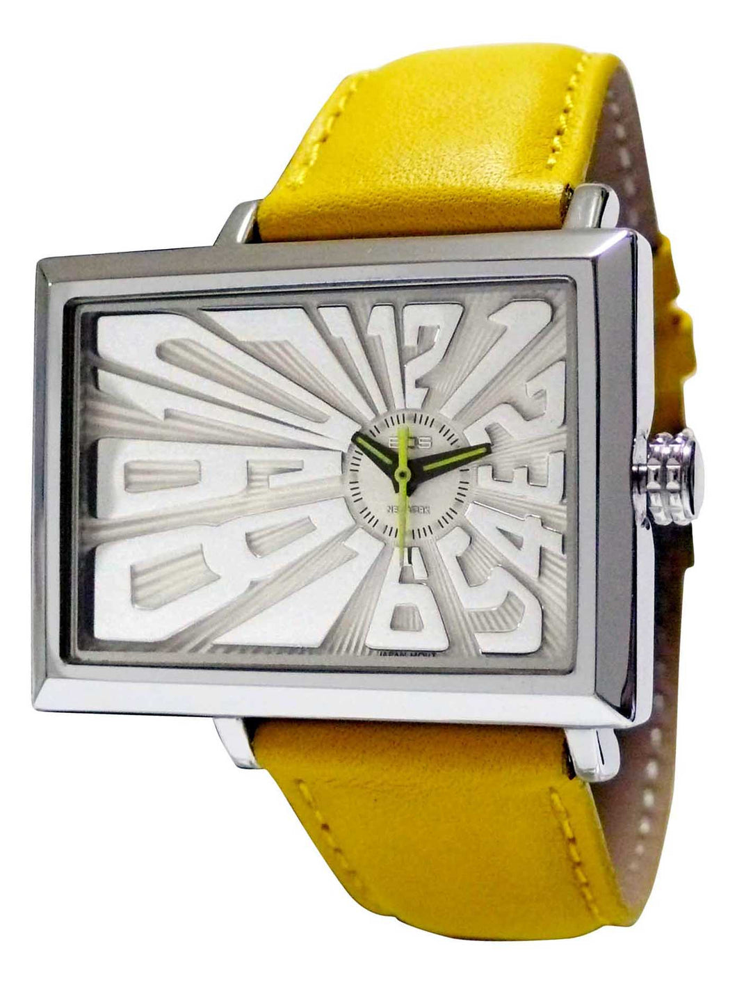 EOS NEW YORK Unisex Mad Hatter Watch in Yellow
