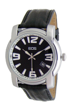EOS New York Men's Master Stroke Dress Watch in Black