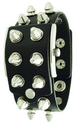EOS New York Unisex Gattika Spikey Watch in Silver White with Black