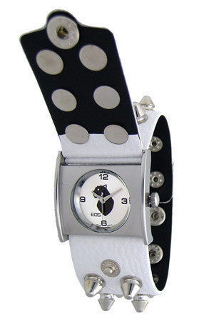 EOS New York Unisex Gattika Spikey Watch in White
