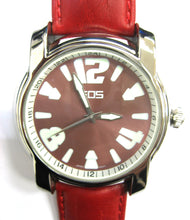 EOS New York Mens Large Gatsby Watch in Cherry Red
